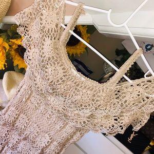 Boston Proper Crochet Dress
